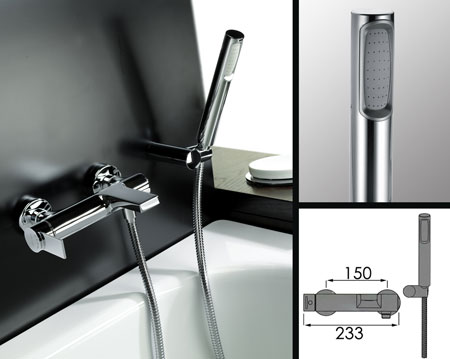 Bath Mixer Taps With Shower Attachment loft wall mounted bath tap with shower - livinghouse