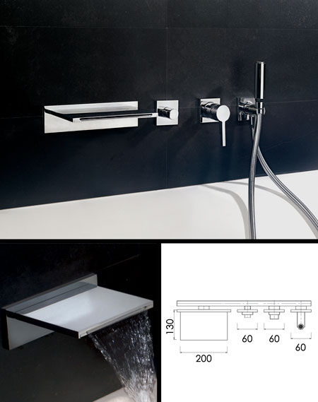 Waterblade Waterfall Bath Filler With Shower Livinghouse