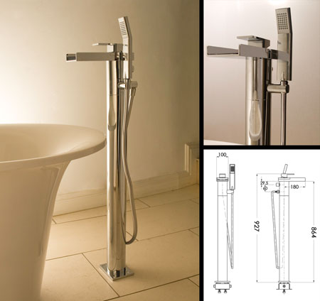 Waterfall Freestanding Bath Tap Amp Shower Livinghouse