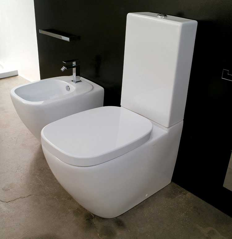 Suppliers Afon Toilet And Cistern Close Coupled Wc