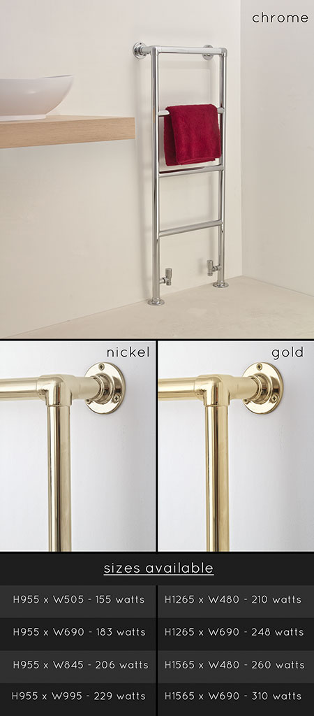 Traditional Towel Radiators Amp Towel Rails In Chrome Gold