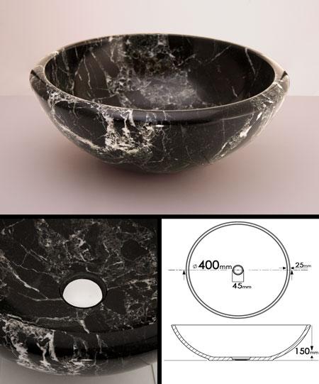 Black Marble Sink (66F)