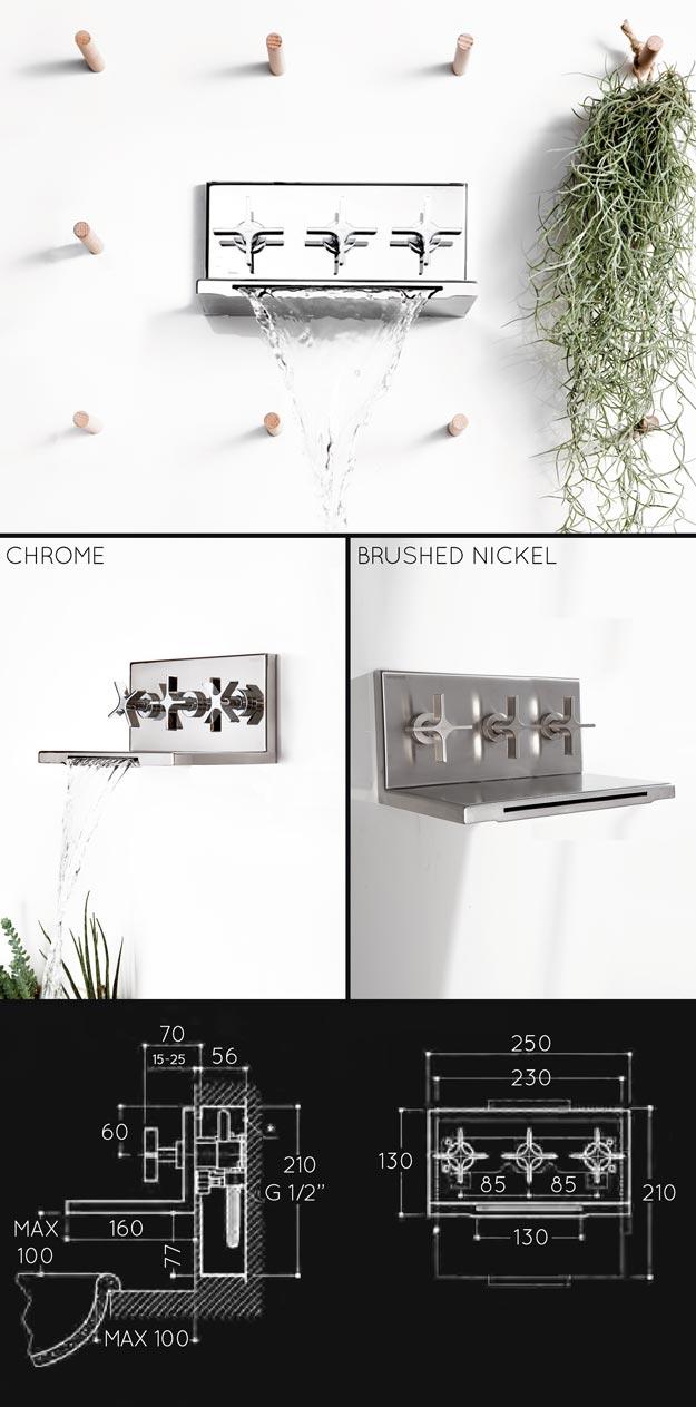 waterfall bath taps with shower divertor valve l eau
