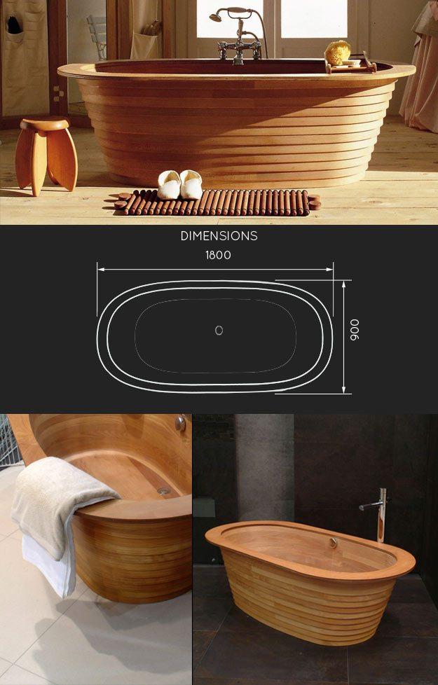 Wooden Bath Freestanding Wood Bath Bath Made In Wood