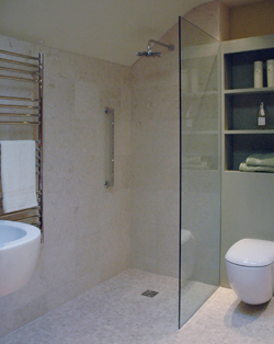 How much does a wetroom cost livinghouse blog for Disabled wet room bathroom design