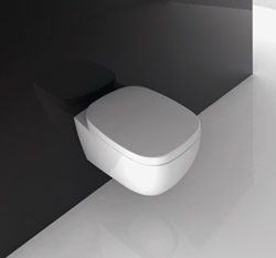 Wall Hung Toilet with Concealed Cistern from Livinghouse.co.uk