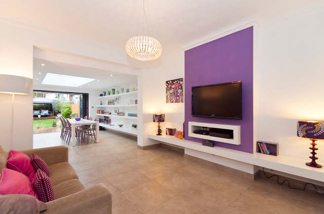 Radiant Orchid Accent Wall