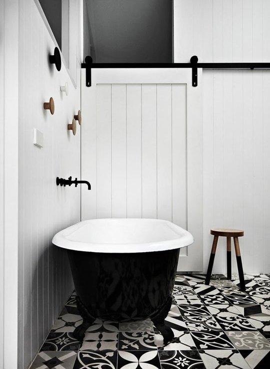 Black Roll Top Bath