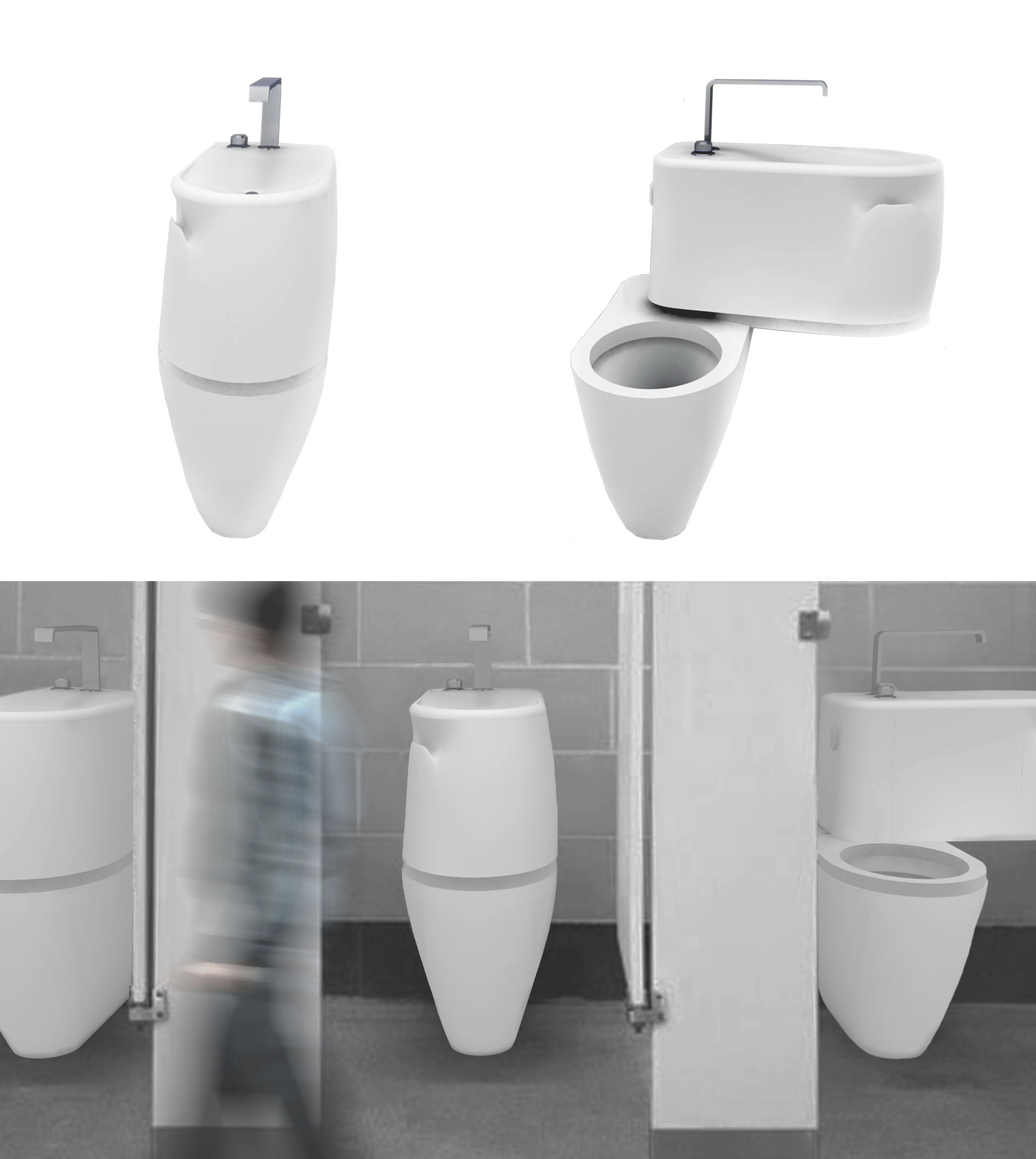 Space and energy saving toilet concept livinghouse blog - Small toilets for tight spaces concept ...