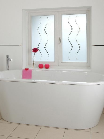 bathroom window film