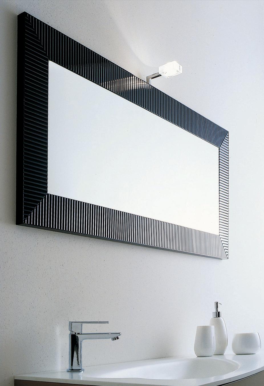 Ebony Illuminated Mirror