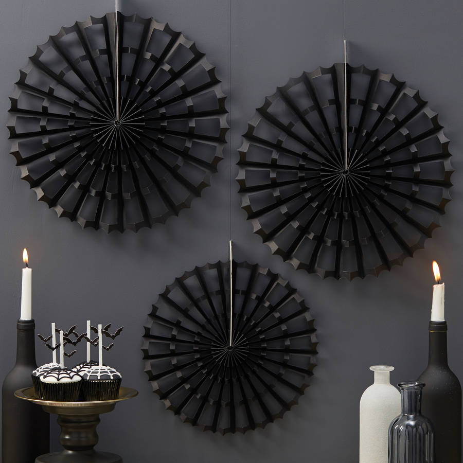 halloween spider fan decorations