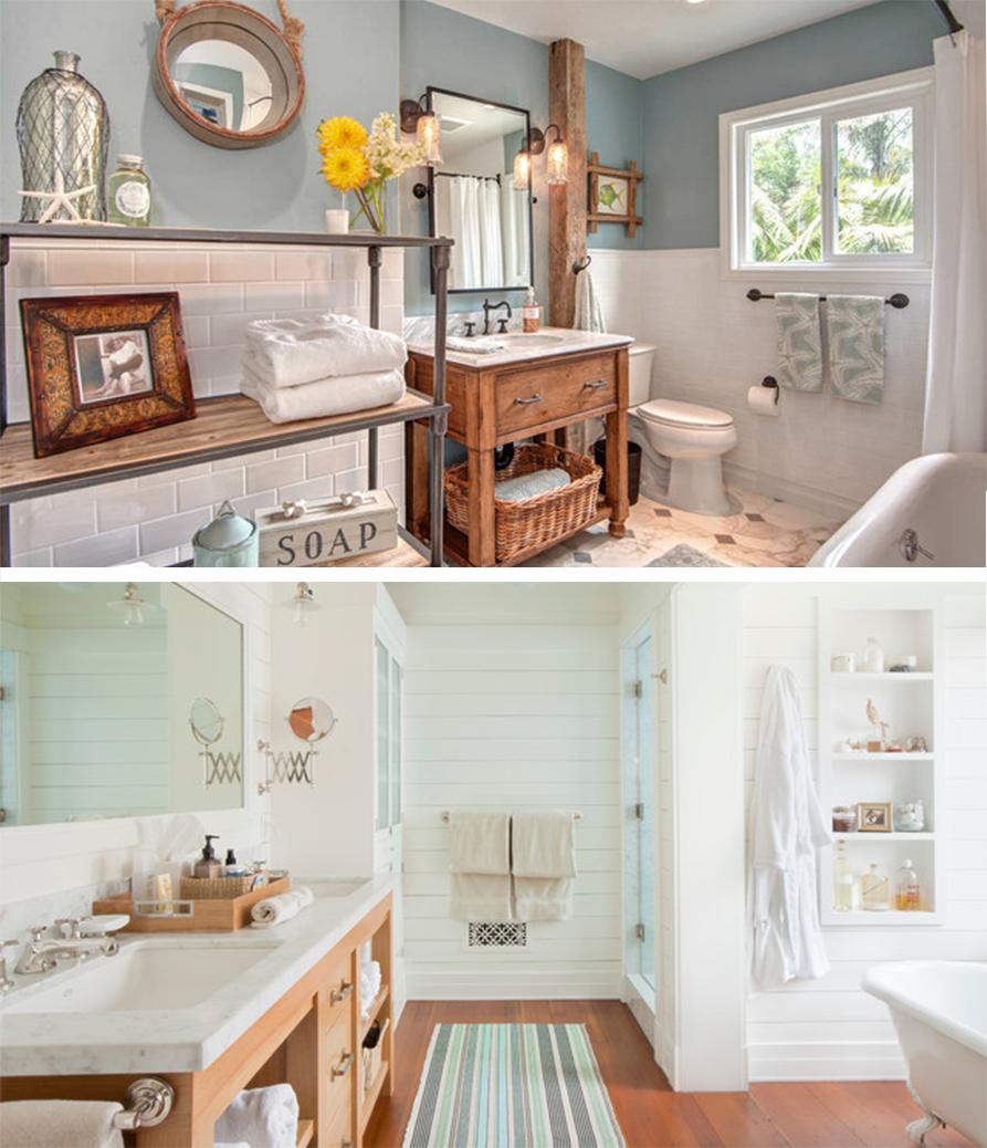 Beach Style Bathroom Beach Bathroom Beach Style Home Design Ideas