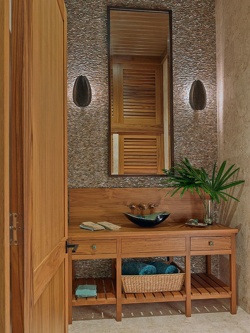 Wooden Vanity Unit