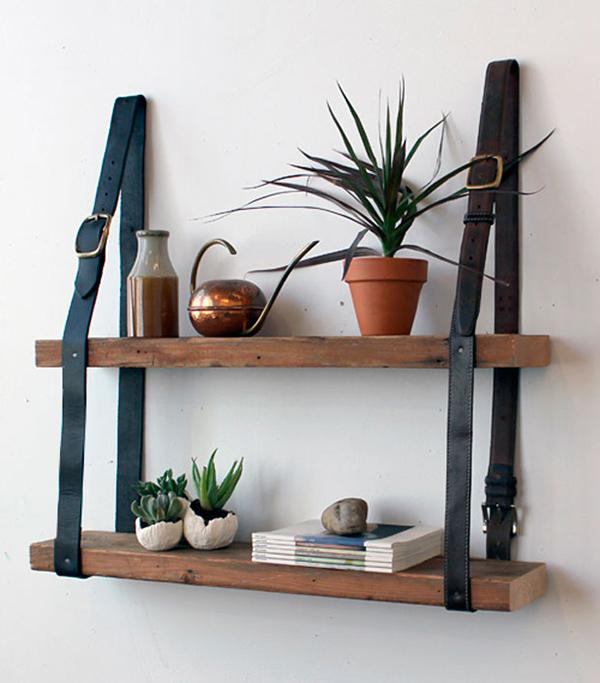 DIY-Leather-Belt-Shelves