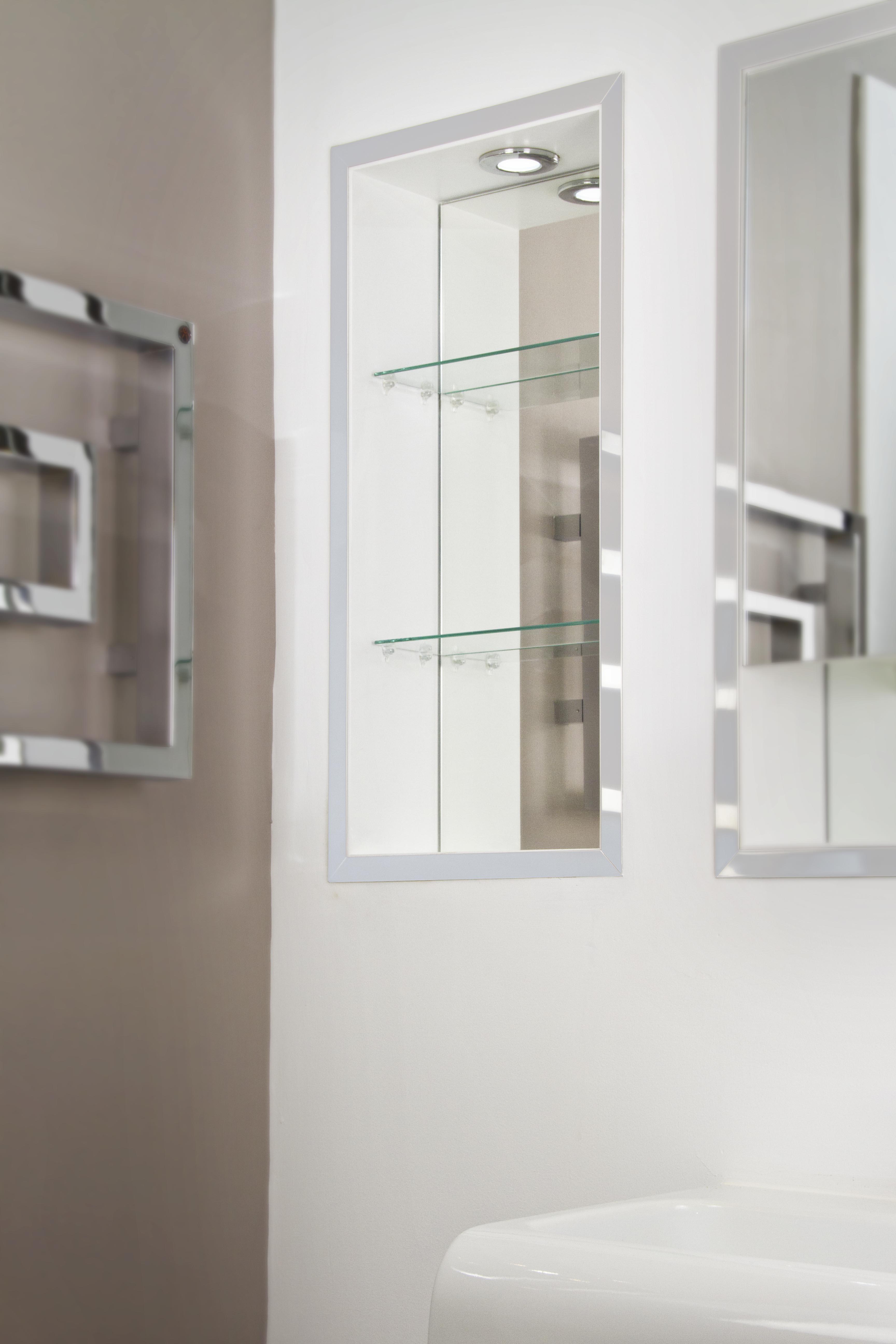 recessed bathroom shelves