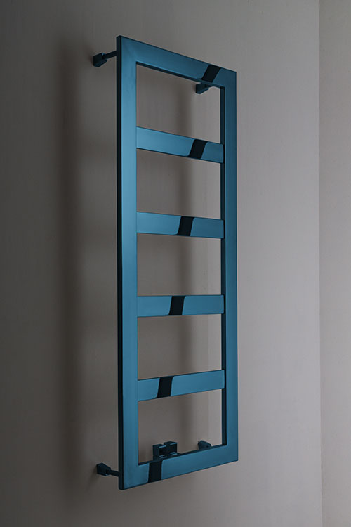 Blue Chrome Large Bar Towel Rail