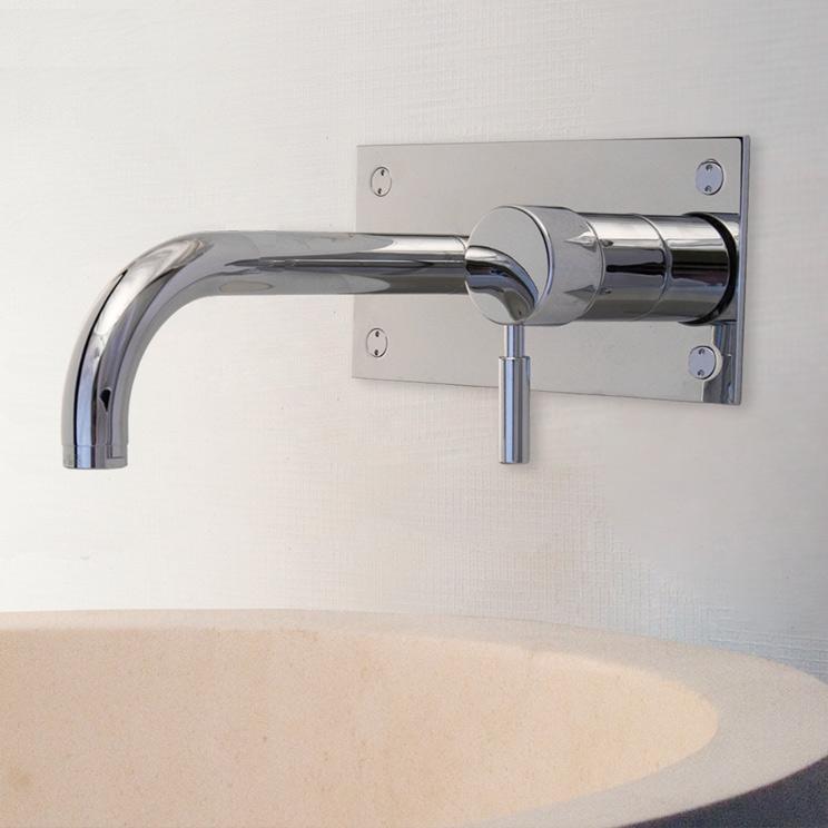 Fresh Modern Bath Filler - Chrome On Brass - Livinghouse