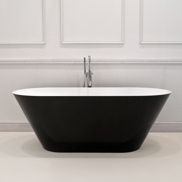 Contemporary baths freestanding stone resin baths for Coloured free standing bath